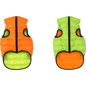 Фото - Курточка CoLLaR AiryVest двухсторонняя оранжево-салатовая размер XS 22 для собак (1706) trixie стойка с мисками trixie для собак 2х1 8 л