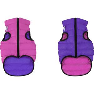Фото - Курточка CoLLaR AiryVest двухсторонняя розово-фиолетовая размер S 40 для собак (1581) trixie стойка с мисками trixie для собак 2х1 8 л