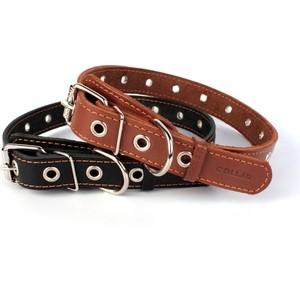 Фотография товара ошейник CoLLaR кожаный безразмерный 76см*35мм черный для собак (02951) (809540)