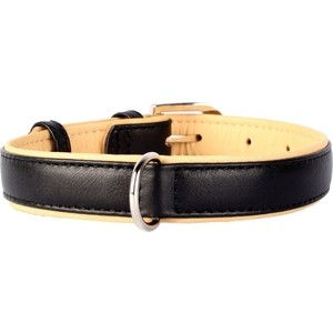 Фотография товара ошейник CoLLaR Brilliance кожаный двойной ширина 35мм длина 46-60см черный для собак (38801) (809547)