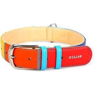 Ошейник CoLLaR Glamour Радуга ширина 20мм длина 30-39см для собак (3920) ошейник collar glamour радуга ширина 25мм длина 38 49см для собак 3921