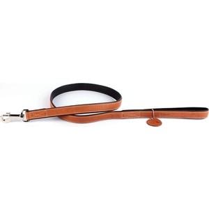Поводок CoLLaR SOFT кожаный двойной 122см*18мм коричневый верх черный низ для собак (7257) низ