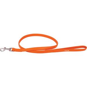 Поводок CoLLaR Glamour кожаный двойной 122см*12мм оранжевый для собак (33724) men leather business casual shoes