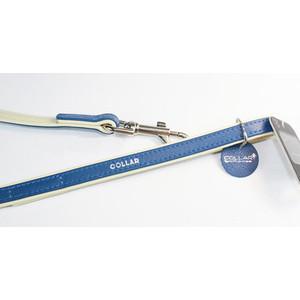 Поводок CoLLaR Brilliance кожаный двойной 122см*25мм синий для собак (38902) gazelle outdoors синий двойной