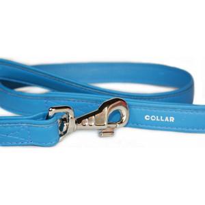 Поводок CoLLaR Brilliance из лаковой кожи двойной 122см*13мм синий для собак (31202) gazelle outdoors синий двойной