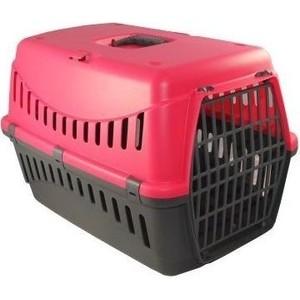 Переноска MP-Bergamo Gipsy Plastic Door с пластиковой дверцей для животных 46*31*32см цвета в ассортименте (87510) туалет mp bergamo birba c рамкой миской и совочком для кошек 46 36 12см цвета в ассортименте 87522