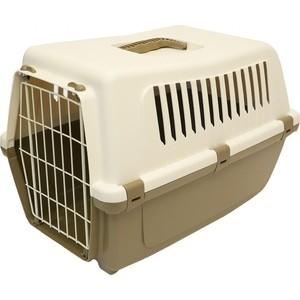 Переноска MP-Bergamo Vision Classic 55 с металлической дверцей для животных 54*36*37см цвета в ассортименте (87482) туалет mp bergamo birba c рамкой миской и совочком для кошек 46 36 12см цвета в ассортименте 87522