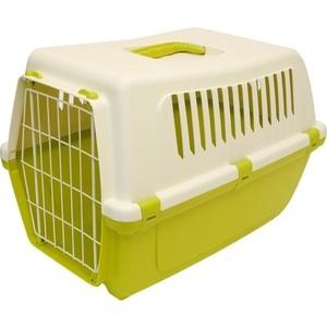 Переноска MP-Bergamo Vision Classic 60 с металлической дверцей для животных 59*39*41см цвета в ассортименте (87483) туалет mp bergamo birba c рамкой миской и совочком для кошек 46 36 12см цвета в ассортименте 87522