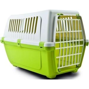 Переноска MP-Bergamo Vision Classic 50 с пластиковой дверцей для животных 48*32*33см цвета в ассортименте (87478) туалет mp bergamo birba c рамкой миской и совочком для кошек 46 36 12см цвета в ассортименте 87522