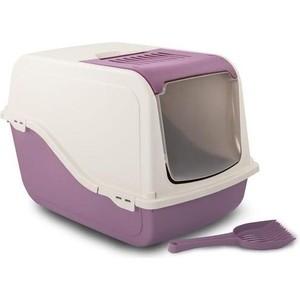 Туалет MP-Bergamo Ariel Top Free закрытый с угольным фильтром и совком для кошек 57*39*38см цвета в ассортименте (87498) bergamo туалет средний с бортами для кошек 45х35х10 см