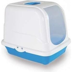 Туалет MP-Bergamo Oliver закрытый с угольным фильтром для кошек 46*35*40см цвета в ассортименте (87496) bergamo туалет средний с бортами для кошек 45х35х10 см