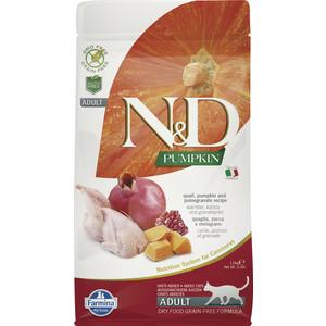 Сухой корм Farmina N&D Adult Cat GF Pumpkin Quail & Pomegranate беззерновой с перепелкой гранатом и тыквой для кошек 1,5кг