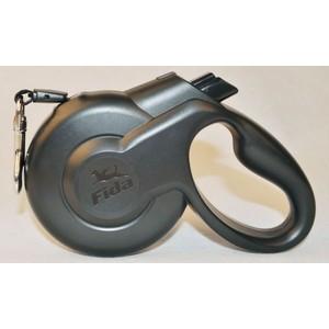 Рулетка Fida Ranger Styleash S шнур 5м черная для собак до 15кг рулетка fida ranger styleash s лента 5м черная для собак до 15кг