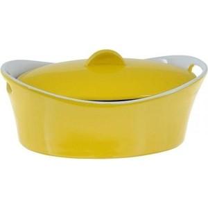 Кастрюля керамическая 1.2 л Appetite Овал желтый (YR100050M-10)