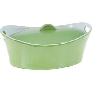 Кастрюля керамическая 1.2 л Appetite Овал зеленый (YR100050A-10)