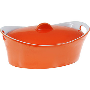 Кастрюля керамическая 1.2 л Appetite Овал оранжевый (YR100050B-10)