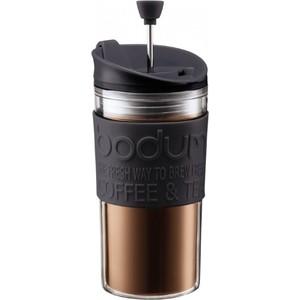Термокружка с прессом 0.35 л Bodum Travel черная (11102-01)