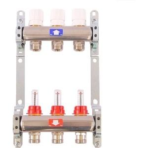 """Коллекторная группа ITAP 1""""х3/4"""" 3 выходов с расходомерами и термостатическими вентилями (917C 1' 3)"""