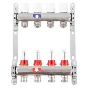 Коллекторная группа ITAP 1х3/4 4 выходов с расходомерами и термостатическими вентилями (917C 1' 4) itap 143 3 4 редуктор давления