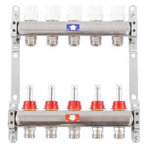 Коллекторная группа ITAP 1х3/4 5 выходов с расходомерами и термостатическими вентилями (917C 1' 5) itap 143 3 4 редуктор давления