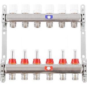 Коллекторная группа ITAP 1х3/4 6 выходов с расходомерами и термостатическими вентилями (917C 1' 6) itap 143 2 редуктор давления