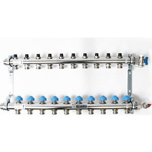 Коллекторная группа REHAU 1х3/4 10 выходов HKV без расходомера с вентилями (218101) rehau панель с фиксаторами varionova