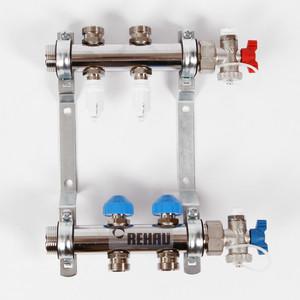 Коллекторная группа REHAU 1х3/4 2 выходов HKV-D с расходомером и термостатическими вентилями (208021)