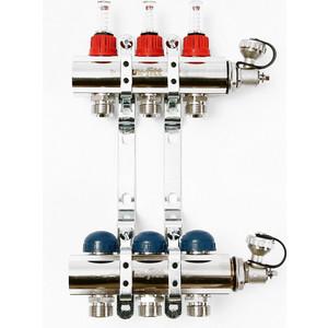 Коллекторная группа Uni-Fitt 1х3/4 3 выходов с расходомерами и термостатическими вентилями (440E4303)