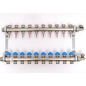 Коллекторная группа Uni-Fitt Н 1х3/4 10 выходов с расходомерами и термостатическими вентилями (455W4310) плащ и маска черепашка ниндзя uni