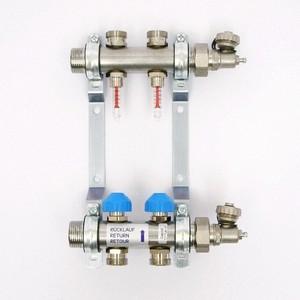 Коллекторная группа Uni-Fitt Н 1х3/4 2 выходов с расходомерами и термостатическими вентилями (455W4302)
