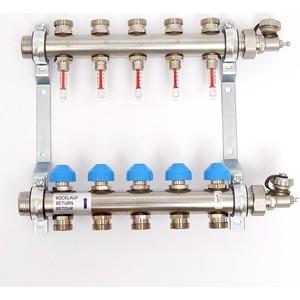 Коллекторная группа Uni-Fitt Н 1х3/4 5 выходов с расходомерами и термостатическими вентилями (455W4305) футболка c h i c
