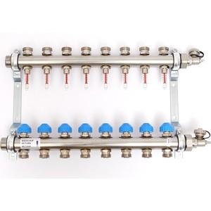 Коллекторная группа Uni-Fitt Н 1х3/4 8 выходов с расходомерами и термостатическими вентилями (455W4308)