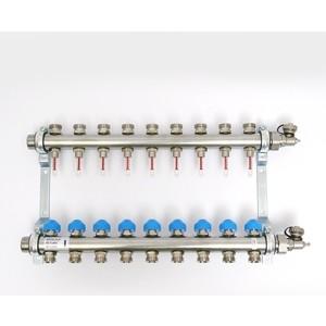 Коллекторная группа Uni-Fitt Н 1х3/4 9 выходов с расходомерами и термостатическими вентилями (455W4309)