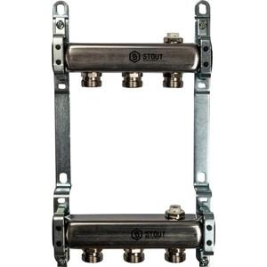 Фотография товара коллекторная группа STOUT 1''х3/4'' 3 выходов для радиаторной разводки (SMS 0923 000003) (810517)