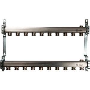 Коллекторная группа STOUT 1х3/4 10 выходов для радиаторной разводки (SMS 0923 000010) коллекторная группа stout 1х3 4 4 выходов для радиаторной разводки sms 0923 000004