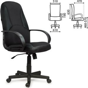Кресло офисное Brabix City EX-512 кожзам черный ткань черная TW 531407 кресло офисное brabix heavy duty hd 001 экокожа 531015