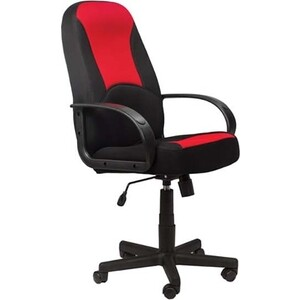 Кресло офисное Brabix City EX-512 ткань черная/красная TW 531408 кресло офисное brabix heavy duty hd 001 экокожа 531015