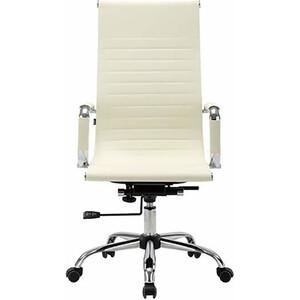 Кресло офисное Brabix Energy EX-509 рециклированная кожа хром бежевое 531166 кресло офисное brabix heavy duty hd 001 экокожа 531015