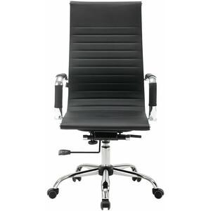 Кресло офисное Brabix Energy EX-509 рециклированная кожа хром черное 530862 кресло офисное brabix heavy duty hd 001 экокожа 531015