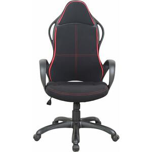 Кресло офисное Brabix Force EX-516 ткань черное/вставки красные 531571 кресло офисное brabix heavy duty hd 001 экокожа 531015