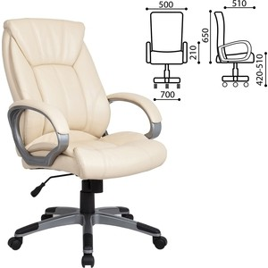 Кресло офисное Brabix Maestro EX-506 экокожа бежевое 531168 кресло офисное brabix heavy duty hd 001 экокожа 531015