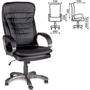 Кресло офисное Brabix Omega EX-589 экокожа черное 531400 кресло офисное brabix heavy duty hd 001 экокожа 531015