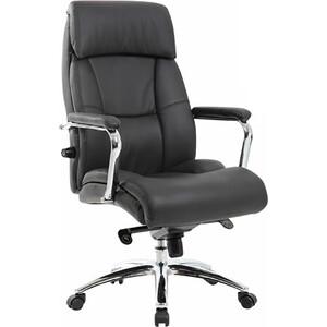 Кресло офисное Brabix Phaeton EX-502 натуральная кожа хром черное 530882 кресло офисное brabix heavy duty hd 001 экокожа 531015