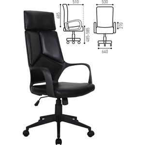 Кресло офисное Brabix Prime EX-515 экокожа черное 531569 кресло офисное brabix heavy duty hd 001 экокожа 531015