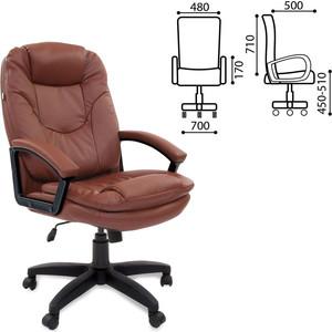 Кресло офисное Brabix Trend EX-568 экокожа коричневое 531396