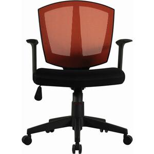 Кресло оператора Brabix Diamond MG-301 с подлокотниками черное/оранжевое 530866