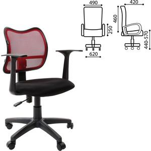 Кресло оператора Brabix Drive MG-350 с подлокотниками черное/бордовое TW 531393 acoola 134 164 р бордовое