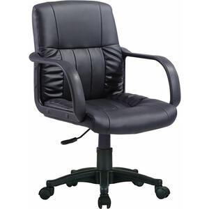 Кресло оператора Brabix Hit MG-300 с подлокотниками экокожа черное 530864 кресло офисное brabix heavy duty hd 001 экокожа 531015