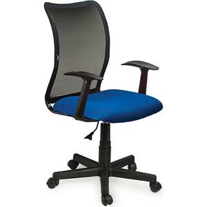 Кресло оператора Brabix Spring MG-307 с подлокотниками синее/черное TW 531404