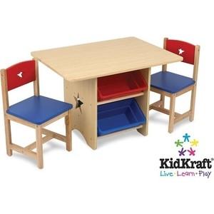 KidKraft Набор детской мебели ''Star'' (стол+2 стула+4 ящика) (26912_KE)